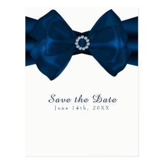Blue Ribbon y reserva elegante del encanto de los Postal