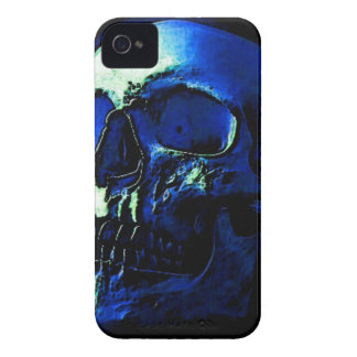 Blue Skull iPhone 4 Case-Mate Protectores