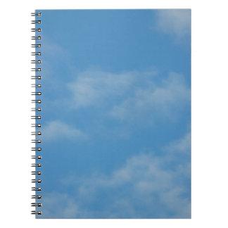 Blue sky with clouds photo libreta
