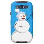 Blue Winter Happy Snowman Galaxy SIII Cases