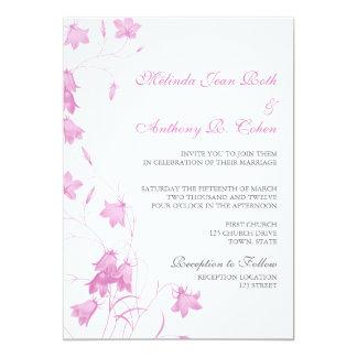 Bluebells - invitación violeta del boda 5x7