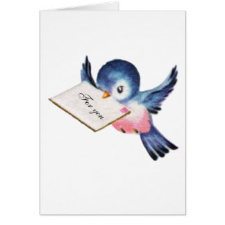 Bluebird de la tarjeta de la graduación de la