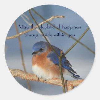 Bluebird del pegatina inspirado de la felicidad