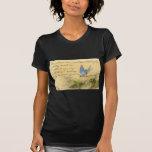 Bluebird en rama y la cita de Victor Hugo Camiseta