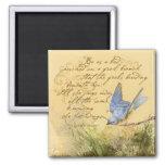 Bluebird en rama y la cita de Victor Hugo Imán