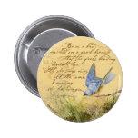 Bluebird en rama y la cita de Victor Hugo Pin