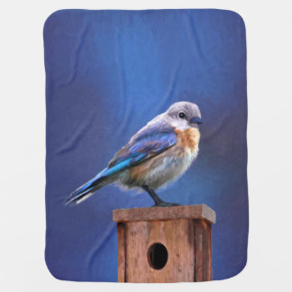 Bluebird (femenino) mantita para bebé