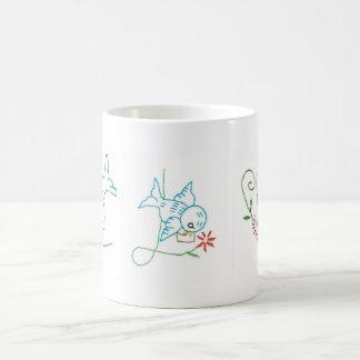 Bluebird/taza de las flores taza mágica