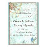 Bluebird y invitación rosada del compromiso de los invitación 12,7 x 17,8 cm