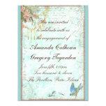 Bluebird y invitación rosada del compromiso de los invitación 13,9 x 19,0 cm