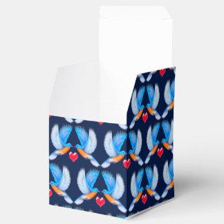 Bluebirds de las cajas del favor de fiesta de la