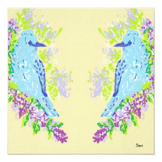 BlueBirds de las invitaciones Invitación 13,3 Cm X 13,3cm