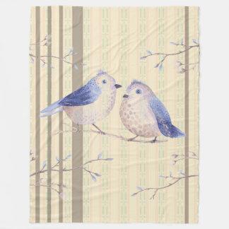 Bluebirds en-mi manta del paño grueso y suave de