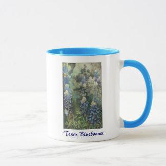 Bluebonnets de la acuarela taza
