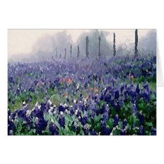 Bluebonnets en primavera tarjeta de felicitación