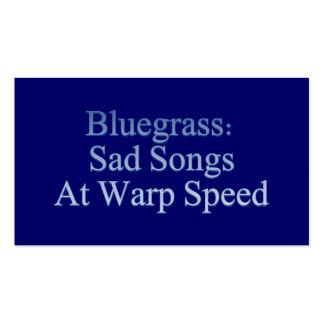 Bluegrass: Canciones tristes a la velocidad de la  Tarjetas De Visita