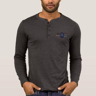 Blusa de manga larga de Henley de la lona de 65 Camiseta