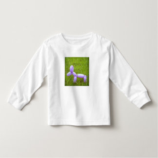 Blusa de manga larga del niño del perro del globo camiseta
