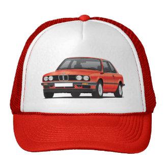 BMW rojo 3 series (E30) Gorro De Camionero