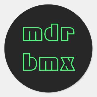 bmx del mdr pegatina redonda