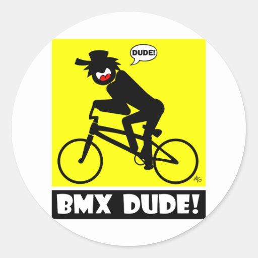 BMX DUDE-18 ETIQUETA REDONDA