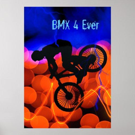 BMX en cristales y relámpago ligeros Impresiones