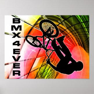 BMX en las líneas y los círculos BMX 4 nunca Impresiones