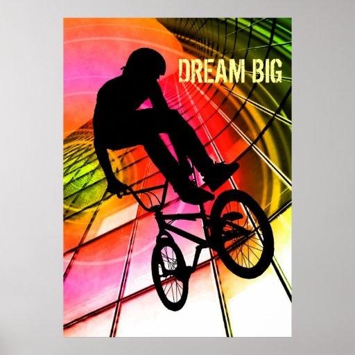 """BMX en las líneas y los círculos """"grandes ideales  Poster"""