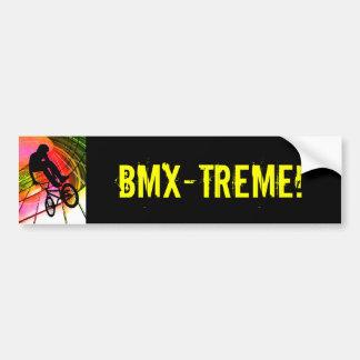 BMX en líneas y círculos Pegatina Para Coche