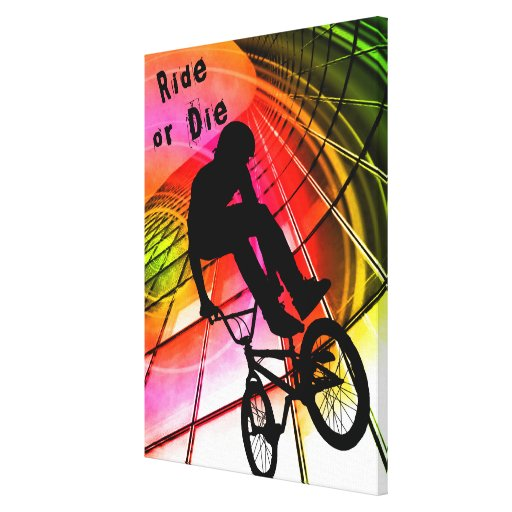 BMX en líneas y paseo de los círculos o mueren Impresiones En Lienzo Estiradas