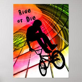 BMX en líneas y paseo de los círculos o mueren
