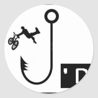 BMX enganchado Pegatina Redonda