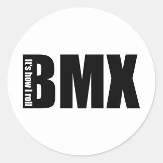 BMX - Es cómo ruedo Pegatina Redonda
