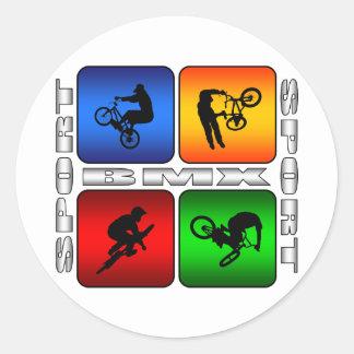 BMX espectacular Pegatinas Redondas