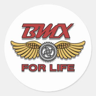 BMX para la vida Pegatina Redonda
