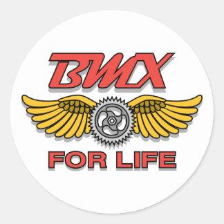 BMX para la vida Etiqueta Redonda