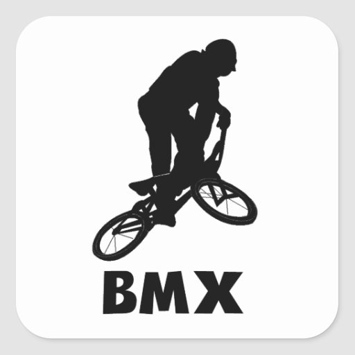 BMX PEGATINAS CUADRADASES PERSONALIZADAS