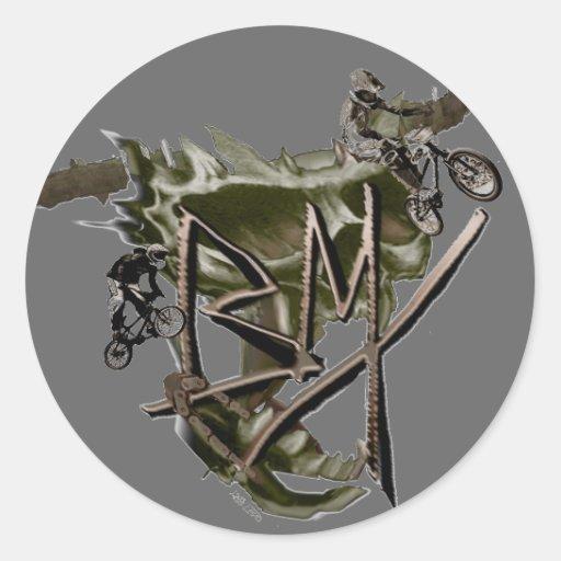 BMX que compite con al pegatina 1