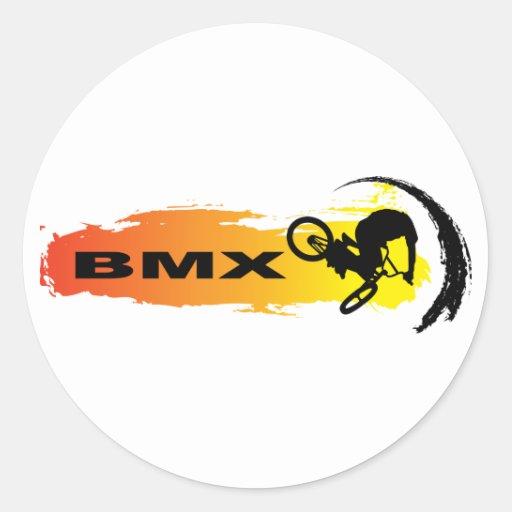 BMX único Etiquetas Redondas