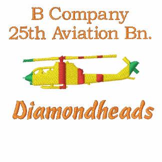 Bn de la aviación de B Co. 25to. Camisa bordada AH