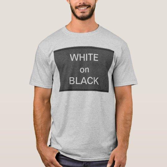 BNW circunda las muestras del texto de n - blanco Camiseta
