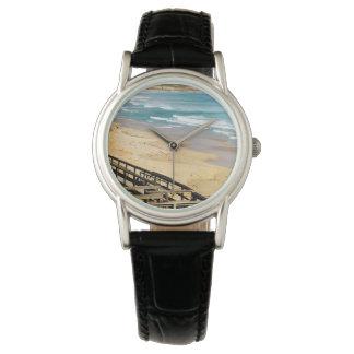 Boardwalk_To_Paradise, _Ladies_Leather_Watch. Reloj De Pulsera