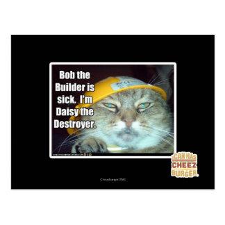 Bob el constructor está enfermo tarjeta postal