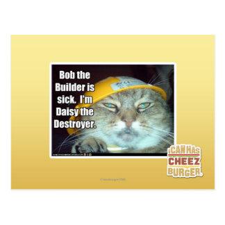 Bob el constructor está enfermo tarjetas postales