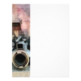Boca grande de la manguera de bomberos tarjetas publicitarias