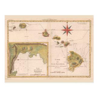 """""""Bocadillo de las islas del DES de la carta"""", mapa Postal"""