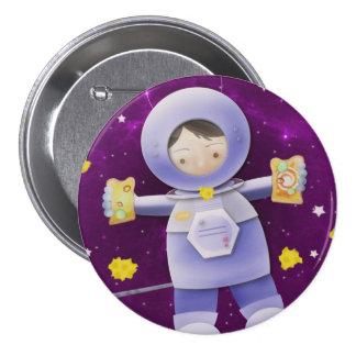 Bocadillo del queso de la luna - insignia del botó chapa redonda de 7 cm