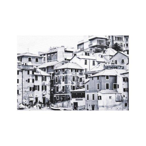 """Boccadasse, Italia 2,5"""" densamente impresión de la Impresion En Lona"""