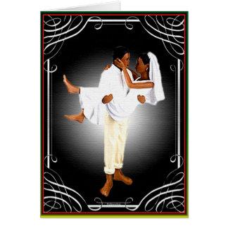 Boda africano tarjeta