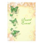 boda amarillo verde del compromiso del cumpleaños comunicados personalizados